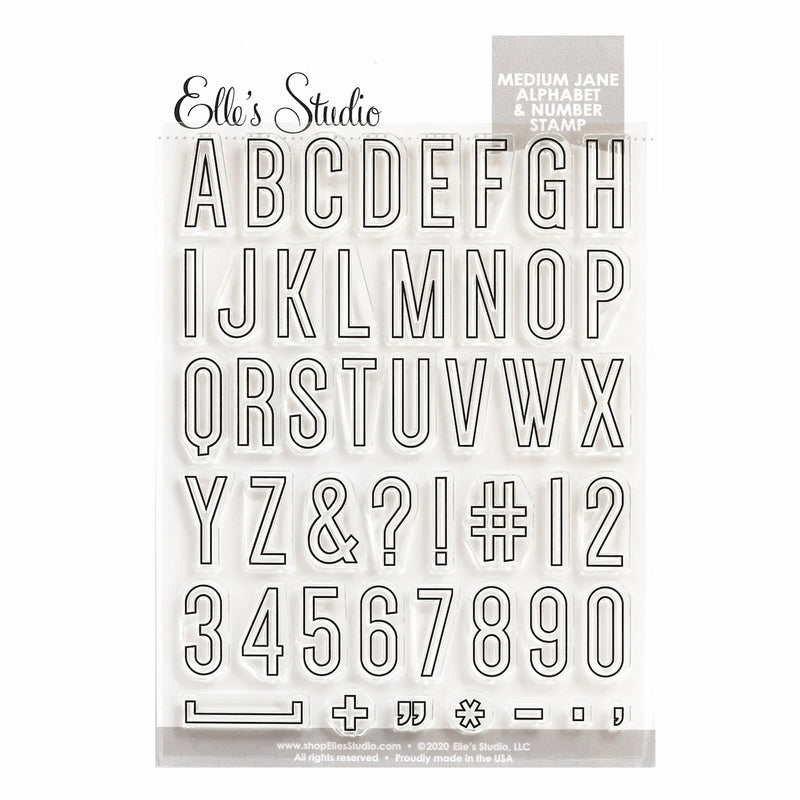 Medium Jane Alphabet Stamp - Outline