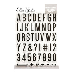 Medium Jane Alphabet Stamp - Solid