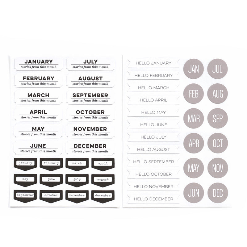 Monthly Cardstock Stickers