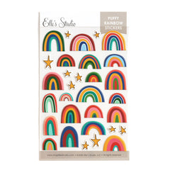 Autumn Rainbow Puffy Stickers