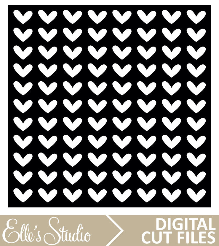 12 x 12 Heart Pattern Cut File