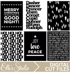 Christmas Pages Digital Cut File