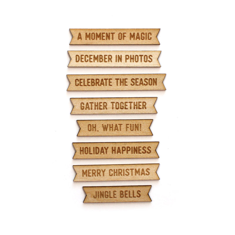 Holiday Wood Veneer Banners