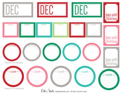 December Date Labels - Printables