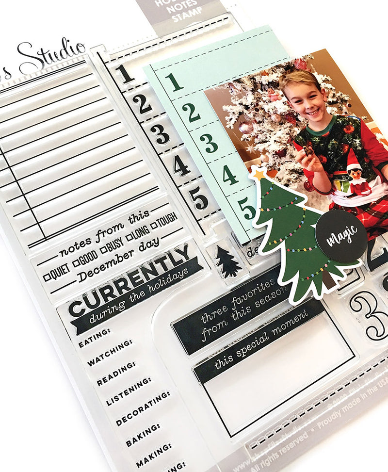 Holiday Noted Stamp
