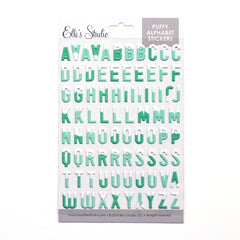 Snowcapped Puffy Alphabet Stickers