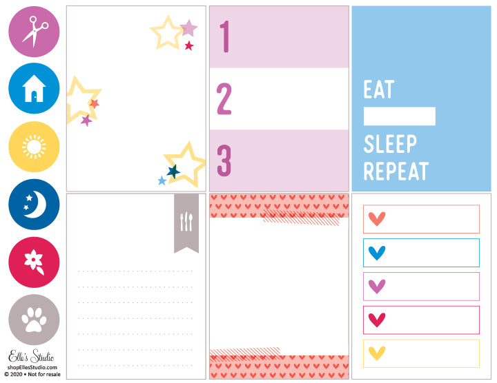 Eat Sleep Repeat Printables