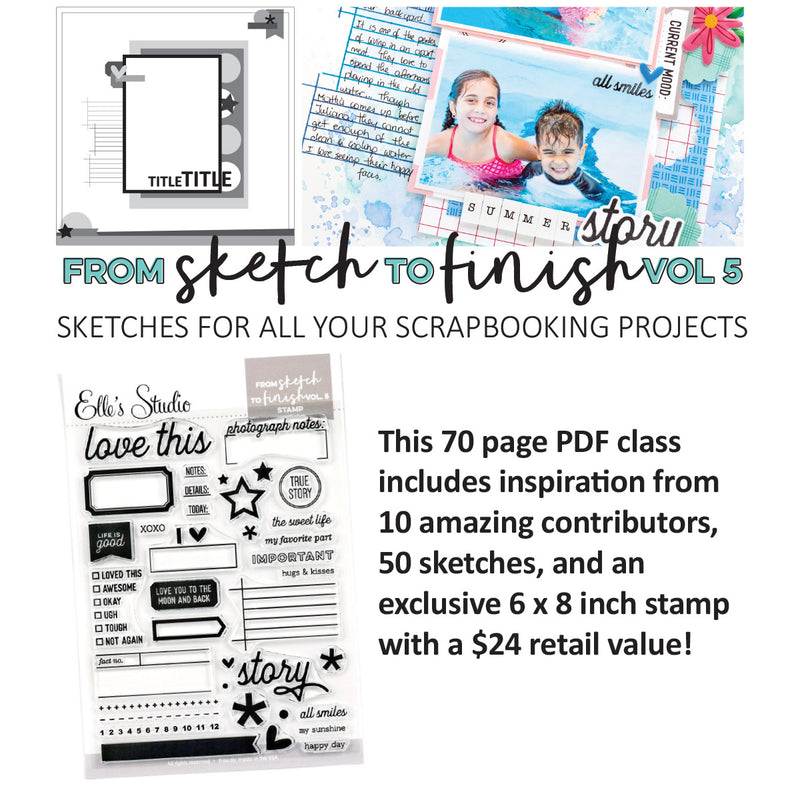 From Sketch To Finish Vol 5 - digital class with physical stamp