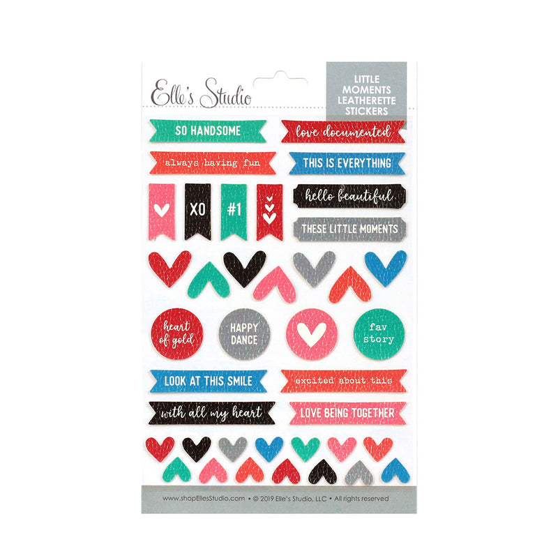 Little Moments Leatherette Stickers