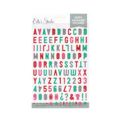 Valentine Multi Color Puffy Alphabet Stickers