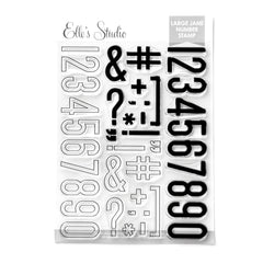 Large Jane Number Stamp - Solid and Outline