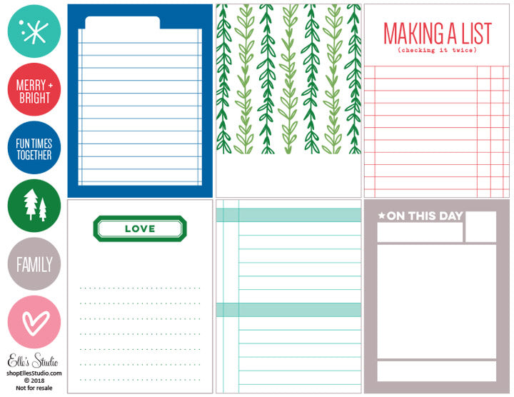 Making a List Printables
