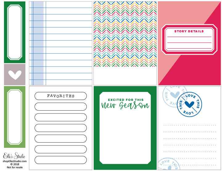 New Season Printables