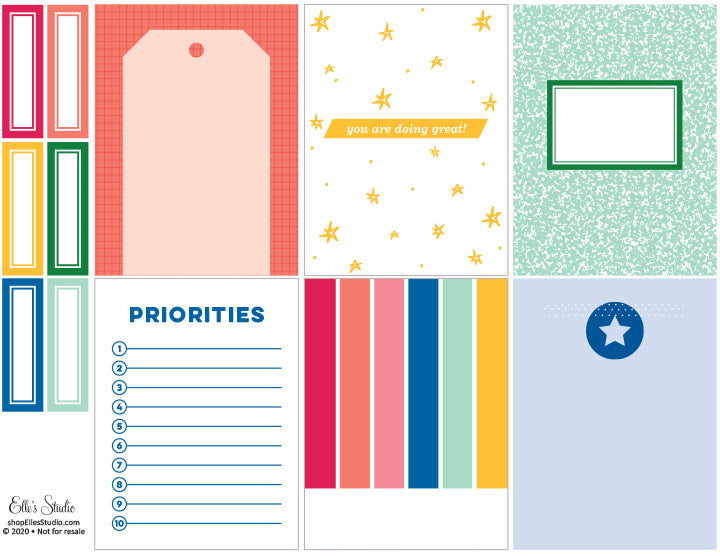 Priorities Printables
