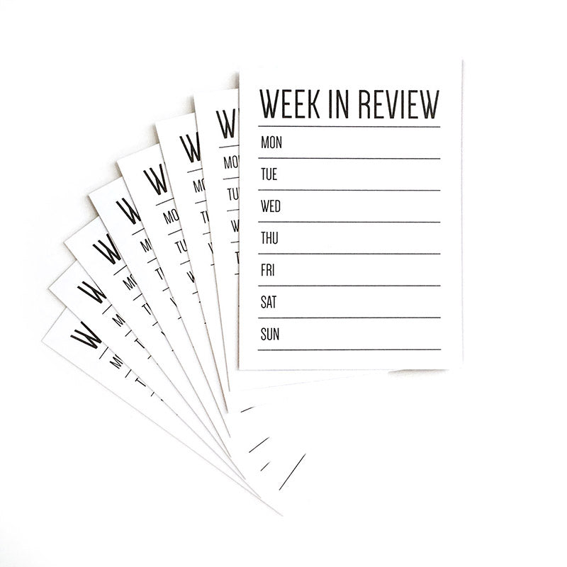 Week In Review Journaling Tags