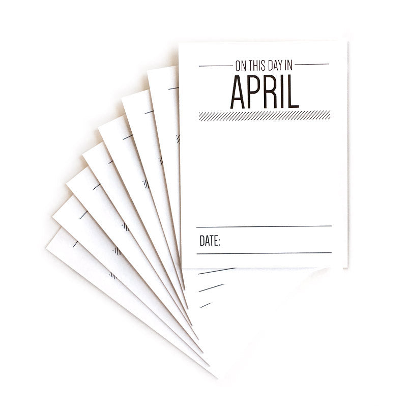 On This Day In April Journaling Tags