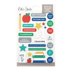 Back to School Puffy Stickers