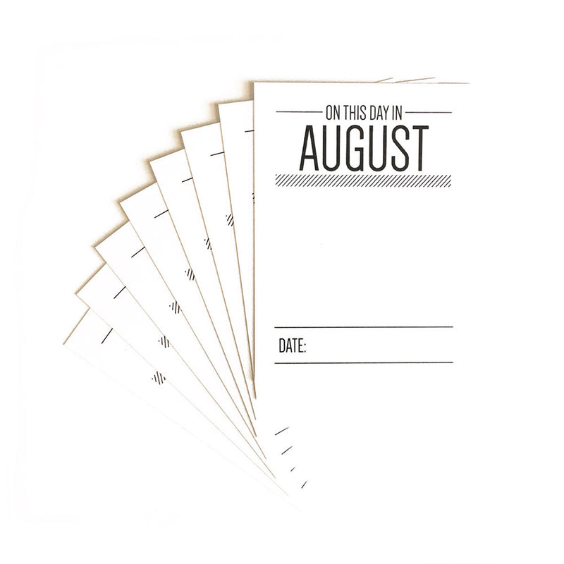 On This Day in August Journaling Tags