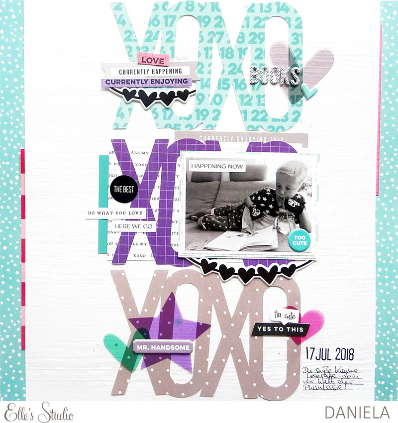 XOXO Pages Digital Cut File