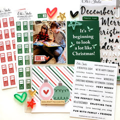 December Date Label Stickers - Red