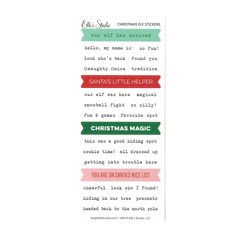 Christmas Elf Stickers
