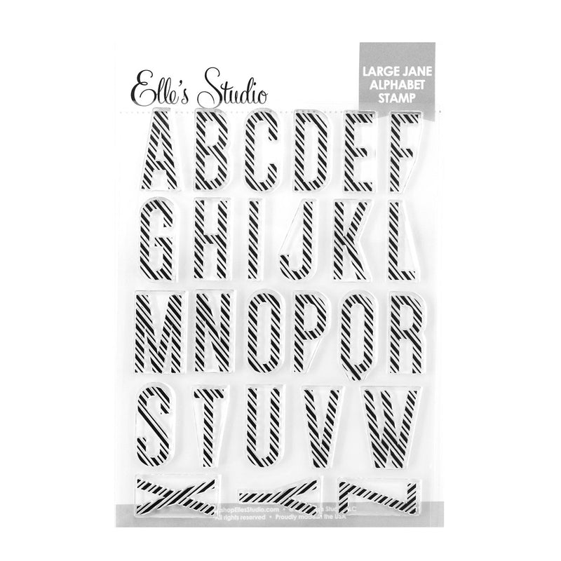 Large Jane Alphabet Stamp - Candy Cane