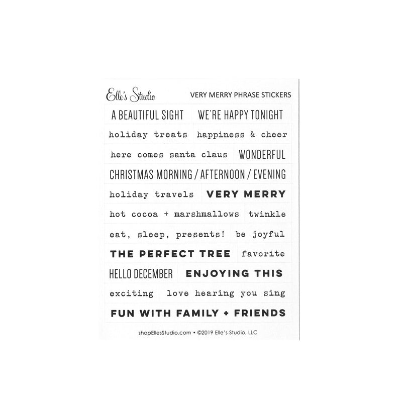 Very Merry Phrase Stickers
