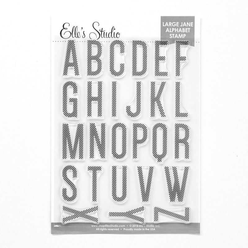 Large Jane Alphabet Stamp - Stripes