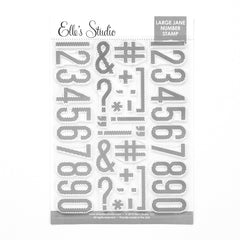 Large Jane Number Stamp - Stripes and Polka Dot