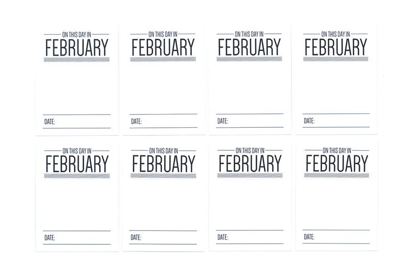 On This Day In February Journaling Tags