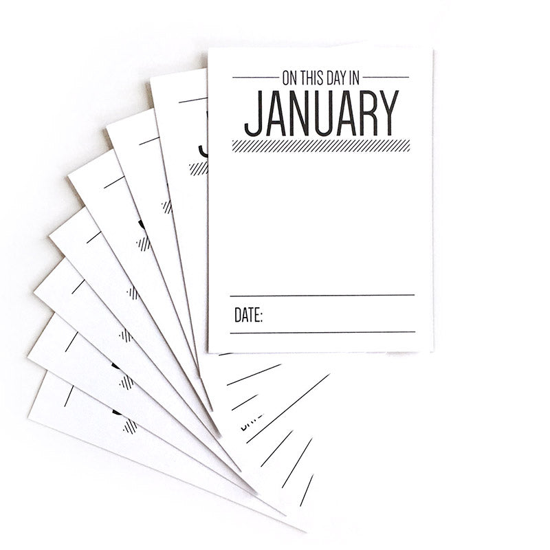 On This Day In January Journaling Tags