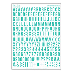 Jane Alphabet Stickers - Teal