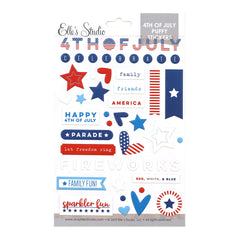 4th of July Puffy Stickers