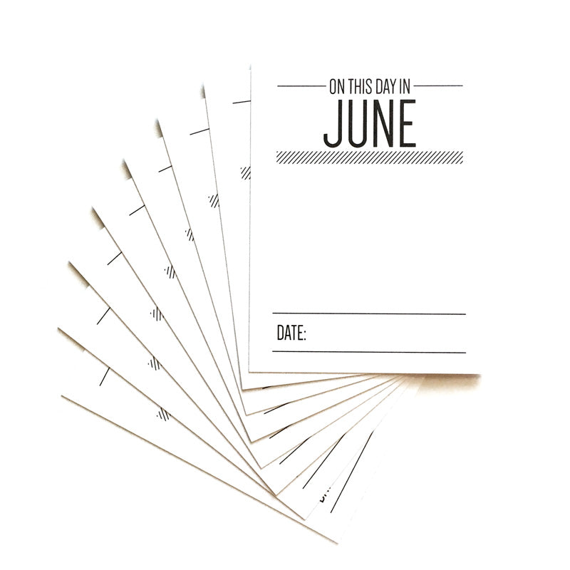 On This Day in June Journaling Tags