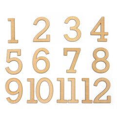 Large Wood Veneer Numbers