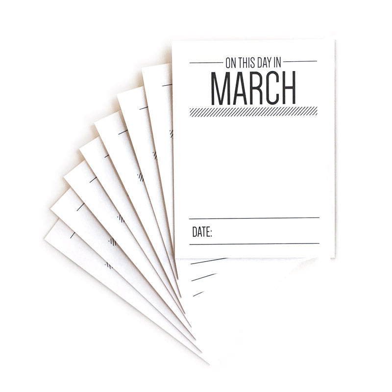 On This Day In March Journaling Tags
