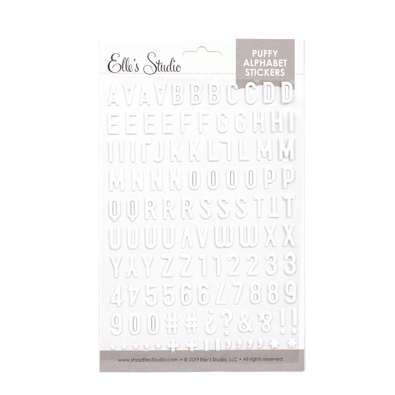 White Puffy Alphabet Stickers