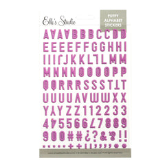 Fuchsia Puffy Alphabet Stickers