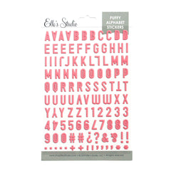 Pink Puffy Alphabet Stickers