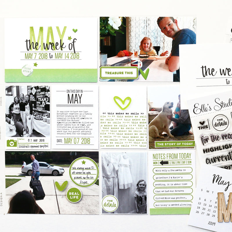 The Week Of 4x6 inch Journaling Tags