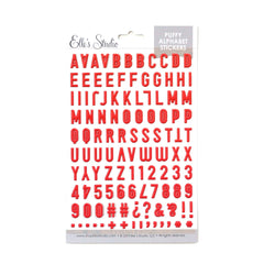 Red Puffy Alphabet Stickers