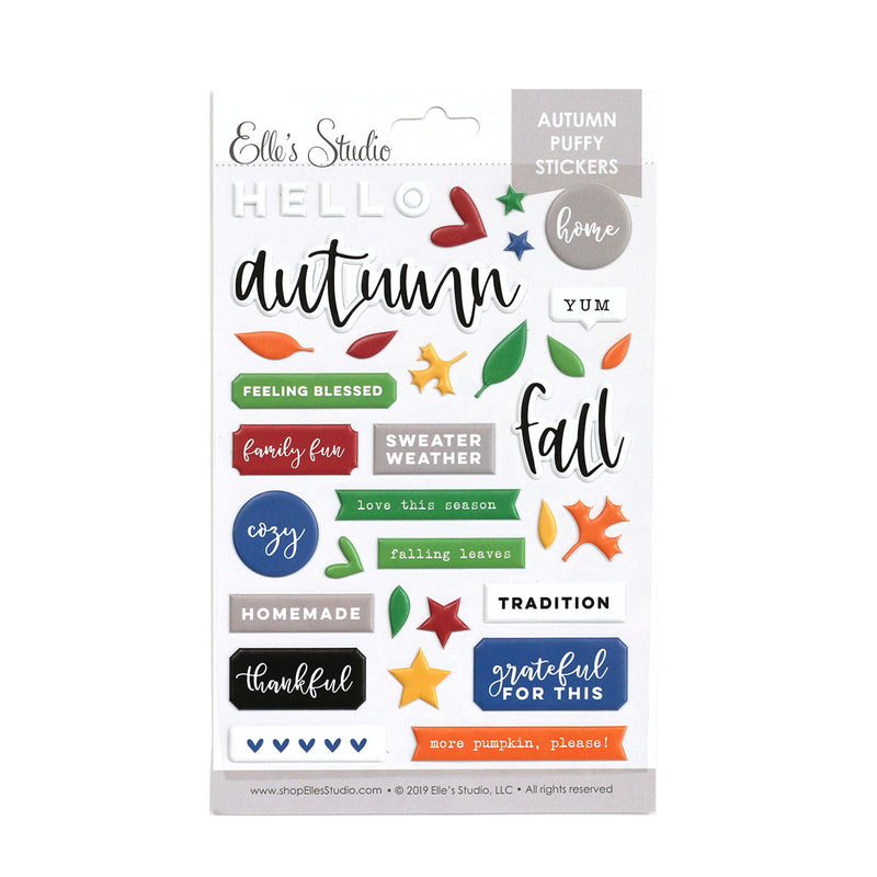 Autumn Puffy Stickers