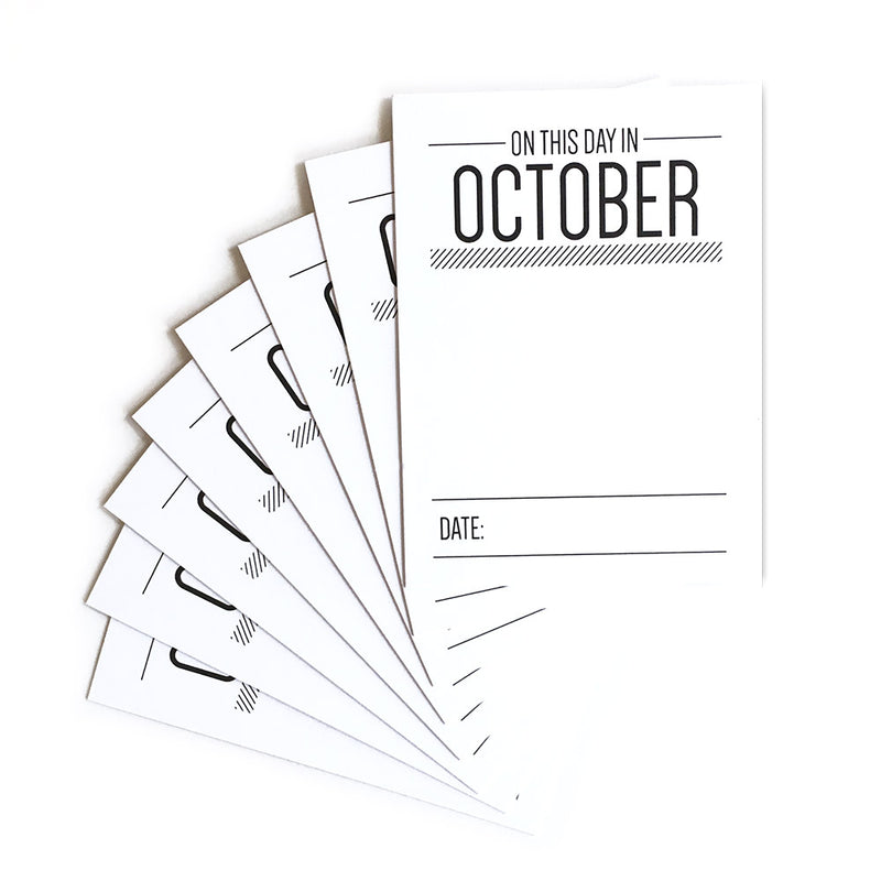 On This Day in October Journaling Tags