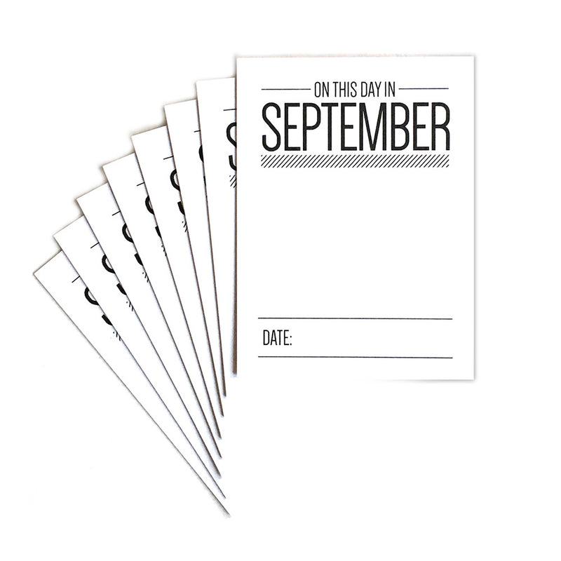 On This Day in September Journaling Tags