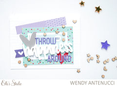 Light Purple Puffy Alphabet Stickers