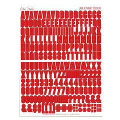 Jane Alphabet Stickers - Red