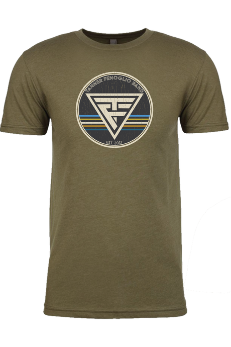 Triangle Logo Olive Green Tee