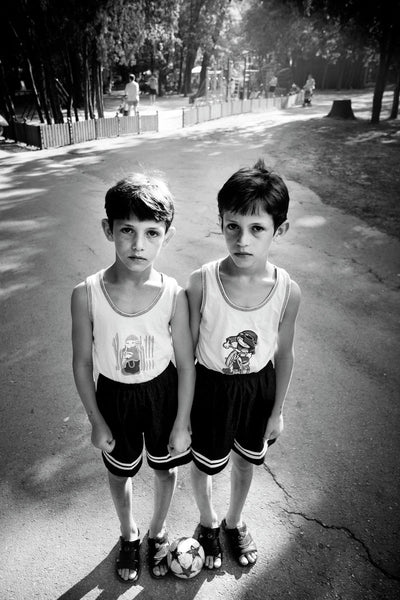 Twins from Telish (Varna, Bulgaria, 2007)26.0cm x 39.0cm, 10.2inches x 15.4inches - Documentary Photography Gallery
