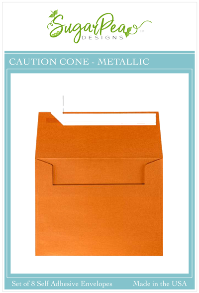 Caution Cone Metallic Envelopes