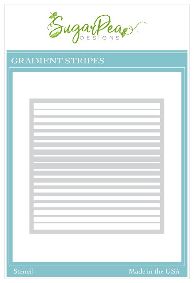 Gradient Stripes Stencil